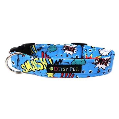 Superhero Clasp Dog Collar