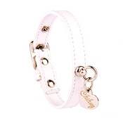 Chihuy - White and Silver Stitch Leather Collar