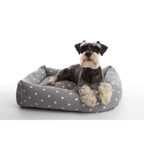 Dotty Smoke Lounge Dog Bed