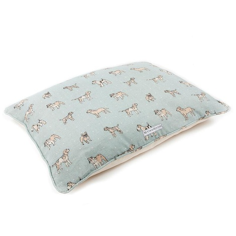 Dog Print Duck Egg Pillow Bed 2