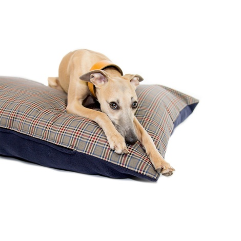 Personalised Brown Check Dog Doza Bed 3
