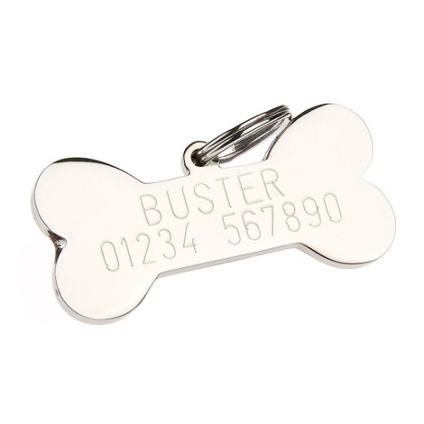 Glitter Bone ID Tag - Dark Blue 2