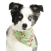 Pet Pooch Boutique - Green Vintage Primrose Dog Bandana
