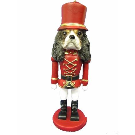 Tri-Colour King Charles Spaniel Nutcracker Soldier Orn