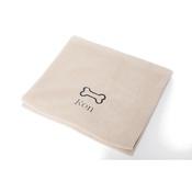 PetsPyjamas - Personalised Cream Bone Dog Blanket - Classic font