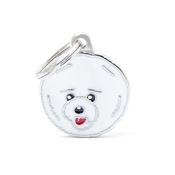 My Family - Bichon Frisé Engraved ID Tag
