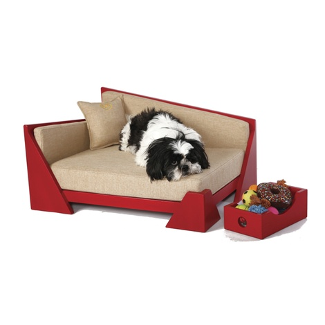 Cherry Red Contemporary  Dog Sofa