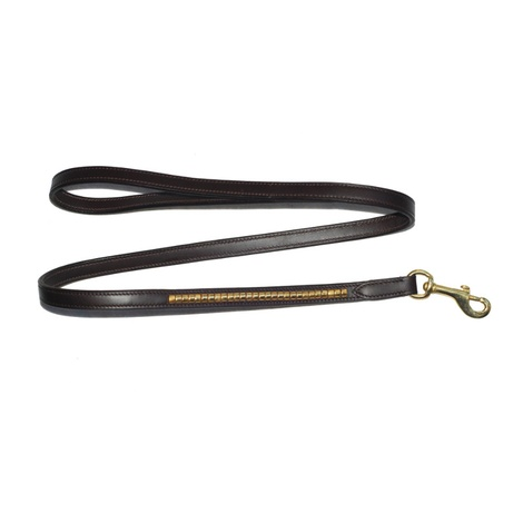 Clincher Leather Dog Lead – Chocolate Brown