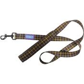 Hem & Boo - Check Padded Handle Dog Lead - Brown