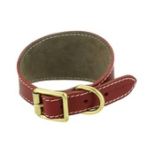 Clementine est. Dogs - Russell collar - Burgundy