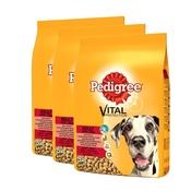 Pedigree - Complete Adult Maxi Dog Beef Dog Food x3