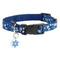 Flower Dog Collar - Blue