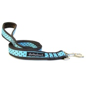 Salt Dog Studios - Classic Brown on Aqua Polka Dot Dog Lead