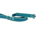 Blue Leather Dog Lead 2