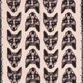 Long Fox Print Silk Scarf in Pink 3