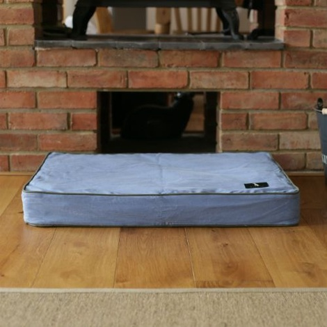 Memory Foam Corduroy Dog Bed – Bluebell