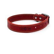 The Leather Dog Co - Red Leather Dog Collar