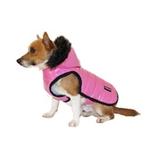 Pawberry - Brighton Bubble Hoodie Dog Coat - Pink