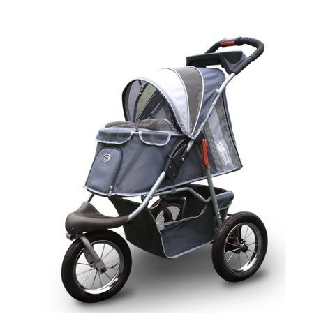 Grey Comfort Dog Buggy with Airfilled Tyres