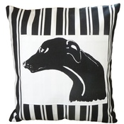 Tomato Catshop - Greyhound Butcher Stripe Panel Cushion