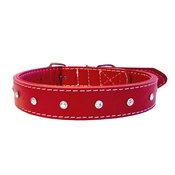 The Paws Pet Supplies - Diamante Rhinestone Dog Collar - Red