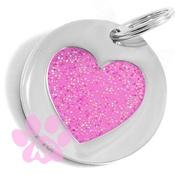 K9 - Pink Heart ID Tag