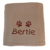 My Posh Paws - Personalised Fleece Blanket - Biscuit