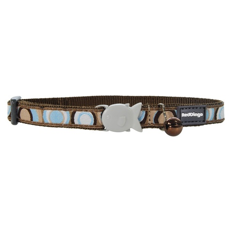 Brown Circadelic Cat Collar