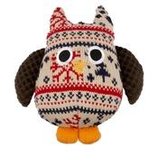 Pet Brands - Christmas Plush Owl Dog Toy