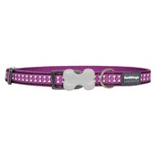 Red Dingo - Bones Reflective Dog Collar - Purple