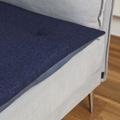 Wool Sofa Topper - Storm Blue 2