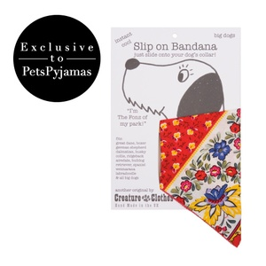 Multi Floral Slip On Dog Bandana