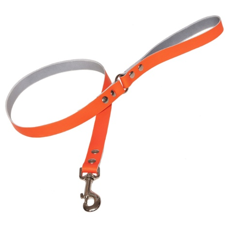 Neon Orange Leather Disco Lead