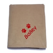 My Posh Paws - Personalised Blanket for Big Dogs - Biscuit