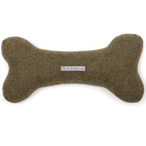 Forest Green Tweed Bone Toy 2