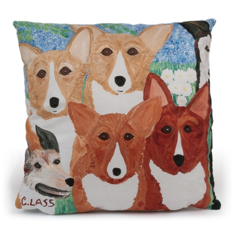 Corgi & Crown Jewels Cushion