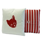 Tomato Catshop - Cat Cushion Red Stripe Cushion