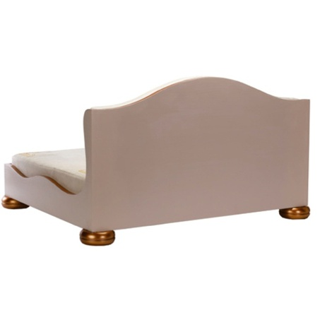Classic Beige & Copper Dog Sofa 2