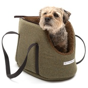 Mutts & Hounds - Forest Green Tweed Dog Carrier