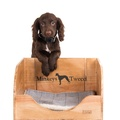Vintage Wine Crate Dog Bed & Blanket 2