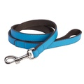 DO&G Leather Dog Lead - Light Blue