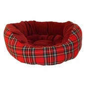 Happy Pet - Christmas Classic Tartan Donut Pet Bed