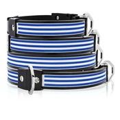 Cool Dog Club - Cool Dog K9 Striker MK1 Cabana Stripe Blue Dog Collar