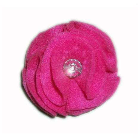 Bright Pink Dog Collar Flower  2