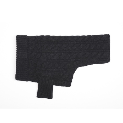 Kora Cable Knit Cashmere Dog Sweater - Black