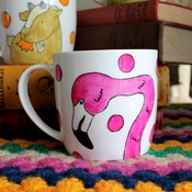 Laura Lee Designs - Oh I Do Love Flamingos Mug