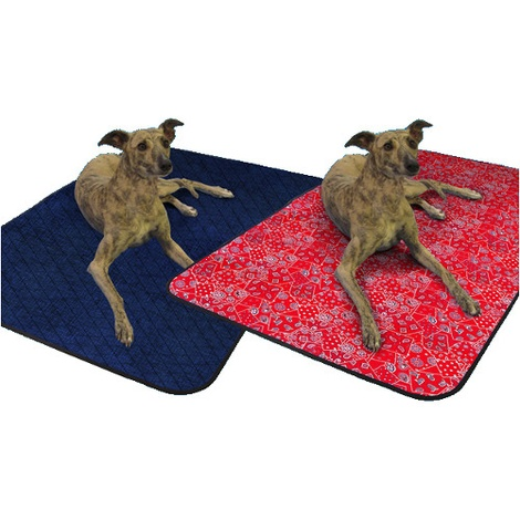 Pet Cooling Blanket in Red Western  2