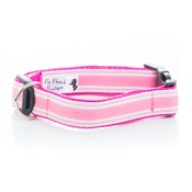 Pet Pooch Boutique - Pink Breton Stripe Collar
