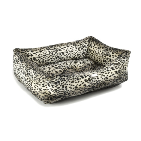 Lynx Print Dog Bed