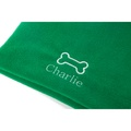 Personalised Green Bone Dog Blanket - Classic font 2